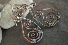 Woven-Paisley Swirls-Earrings-Sale-Free Shipping.. $27.00, via Etsy.