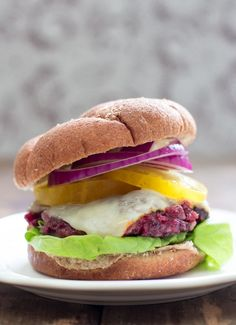 Need a new veggie burger for your summer eats. This Chipotle Cherry Burger is easy to make, sweet & spicy, and also vegan. What else do you need?