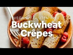 Easy, 5-ingredient buckwheat crepes that are both vegan and gluten-free, plus sugar-free! Simple methods, fluffy and tender, and so delicious!
