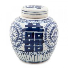 Dynasty Ginger Jar Double Happiness 16cm Front