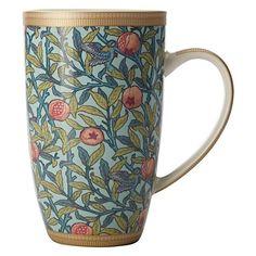 William Morris Bird & Pomegranate Coupe Mug, 420ml by Maxwell & Williams
