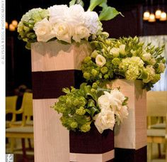 green and white Wedding aisle flower décor, wedding ceremony flowers, pew flowers, wedding flowers, add pic source on comment and we will update it. www.myfloweraffair.com can create this beautiful wedding flower look.
