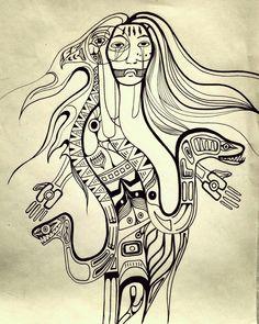 Havia una ves un mundo sin sol ni luna , The Legend of Trentren Vilu and Caicai Vilu Pablo Picasso, Ideas, Art, Tatoo, Tattoo Designs, Paint, Deporte, Patterns, Art Background