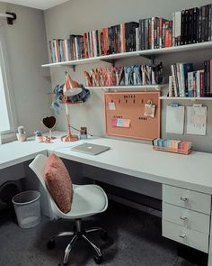 Home Office Bedroom, Room Design Bedroom, Room Ideas Bedroom, Home Room Design, Home Design Decor, Home Office Design, Home Office Decor, Bedroom Decor, Home Decor