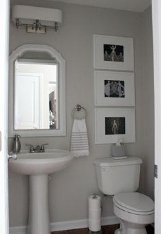 Bathroom ideas Duo Ventures: Half Bath Makeover Spark an Interest in Gardening for Kids with Fun Gar Half Bath Decor, Half Bathroom Decor, Half Bathroom Remodel, Small Bathroom Colors, Bathroom Layout, Bathroom Interior, Bathroom Ideas, Bathroom Makeovers, Bathroom Beadboard