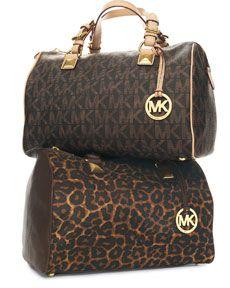 MICHAEL Michael Kors Grayson Large Satchel- love leopard!!