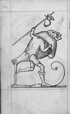 François Desprez,  f. G6 v° Dessin 102  Les Songes drolatiques de Pantagruel  A Paris : Par Richard Breton 1565 (56)