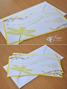 Dragonfly Wedding Invitations (Invitatii de nunta cu libelule) - Handmade by Meda