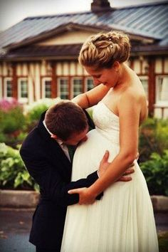 Maternity Wedding Gowns Empire White Soft Chiffon Off The
