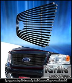 Black 304 Stainless Steel Billet Grille Fits 2004-08 Ford F-150 Honeycomb Model