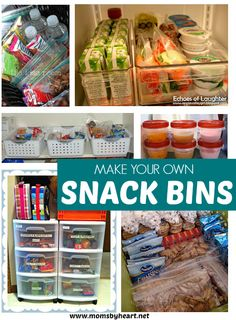 make your own snack bins -  momsbyheart.net