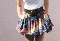 Full skirt to cute bubble skirt