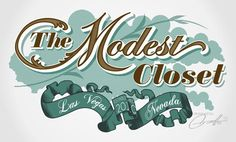 The modest closet Typography design inspiration