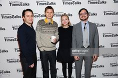 Kieran Culkin, Michael Cera, Tavi Gevinson and David Itzkoff attend the Times Talks Presents: An evening with the cast of 'This Is Our Youth' at Times Center on November 14, 2014 in New York City.
