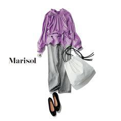 Denim Fashion, Womens Fashion, Fashion Capsule, Mix N Match, Japanese Fashion, Summer Looks, Casual Wear, Lilac, Pretty