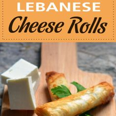 Cheese rolls are nothing new to the appetizer world, but what distinguishes the Lebanese version is the type of cheese and dough used. Lebanese Cuisine, Lebanese Recipes, Appetizers For Party, Appetizer Recipes, Egyptian Food, Egyptian Recipes, Good Roasts, Cheese Rolling, Greens Recipe