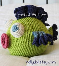 Cute little cuddlefish.   This reminds me of the crocheted pig my grandma made for me when I was little!