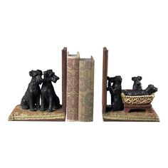 Sterling Industries 93-10063/S2 Puppies In A Basket Bookends