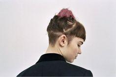 Grimes - Undercut back and messy bun. /pinterest @friaaurora