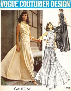 Vogue 2817, Irene Galitzine's turtleneck top over incredible palazzo pants