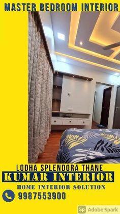 Home interior designer Thane home interior enquiry call Kumar 9987553900 Master Bedroom Interior, My Room, Flat, Interior Design, Home, Nest Design, Bass, Home Interior Design, Interior Designing