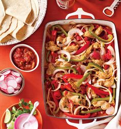 Chicken Fajitas in the oven