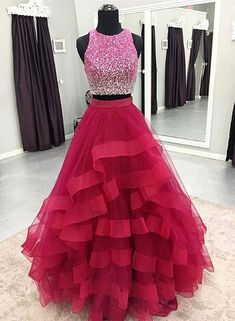 Two Pieces Prom Dress,Long Homecoming Dress Homecoming Dress, Long Homecoming Dress, Prom Dresses Two Piece, Prom Dress Homecoming Dresses 2019 Homecoming Dresses Long, Ball Gowns Prom, A Line Prom Dresses, Quinceanera Dresses, Cheap Prom Dresses, Party Gowns, Dance Dresses, Formal Dresses, Dress Prom