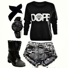 Love it all except the boots.... Don't know what i'd pair with it. Maybe some chucks.
