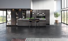 [ 90 ans de création française ] En 2017, la marque Arthur présente son nouveau modèle Reflet. Une cuisine en laque, contemporaine et conviviale au style ethnique et à la décoration bohème chic. Alno Kitchen, Style Asiatique, Style Ethnique, Laque, Divider, Room, Furniture, Design, Home Decor