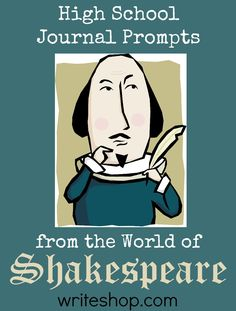 High school students will explore the motivations behind Shakespeare's comic, tragic, and historic characters with these creative journal prompts. High school students can bring literary characters to life with creative Shakespeare journal prompts. High School Classroom, Homeschool High School, High School Students, English Classroom, Classroom Ideas, English Teachers, Homeschooling, Classroom Resources, Teacher Resources