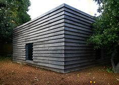 Designed by Portuguese architect João Quintela and German architect Tim Simon, the Kairos Pavilion is a permanent structure built from prefabricated concrete blocks that slot together without any adhesives or fixings.