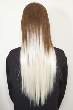 brunette & white