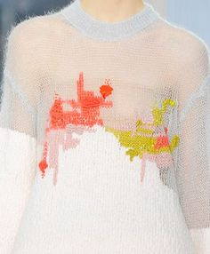 Random pattern | Colour flakes | Spill | Texture and sheer | sweater Decorialab ...