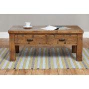 Heyford Rough Sawn Oak Furniture Four Drawer Coffee Table