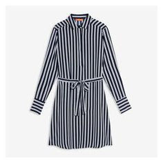 Print stripe shirt dress Striped Shirt Dress, Striped Tee, Joe Fresh, Printed Shirts, Underwear, Dress Up, Tees, Spring, Long Sleeve