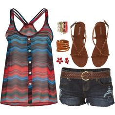 This probably is a little bit my style, I love the tank top!