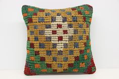 Art deco kilim pillow cover 14x14 Turkish Organic Kilim pillow cover Case Throw Kilim Pillow Cover Decorative Kilim Pillow Traditional Kilim Pillow cover. Turkish handmade Oriental kilim pillow cover By Kilimwarehouse Size: 14x14 Inches / 35x35 Cm Front side: Vintage Handmade kilim rug, material wool & cotton. Back side: Cotton fabric and hidden zipper. Pillow insert is not included. Only Dry clean. Please note that colors may vary slightly on different computer monitors. Shipment: Fedex...