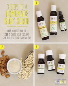Check out these 3 simple steps to a homemade body scrub. #diybeauty #natural