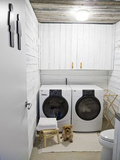 Looking for Storage and Utility and Laundry Room ideas? Browse Storage and Utility and Laundry Room images for decor, layout, furniture, and storage inspiration from HGTV. Room Makeover, Room Design, Basement Laundry Room, Contemporary Cabin, Laundry Room Design, Room Remodeling, Utility Rooms, Laundry, Laundry Room Lighting