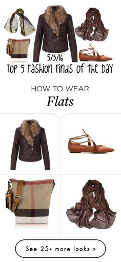 """""""Top 5 Fashion Finds of the Day"""" by maggie-johnston on Polyvore featuring Burberry and New Look"""