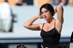 Monica Bellucci sul set dello spot di Dolce&Gabbana nel 2011