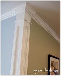 Separate your wall colors. easy fix for the beat-up corners in a house.