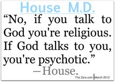 House MD on religion and god