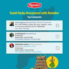 Tamil Nadu discovered with Ramdev    Besides the delicious food, Tamil Nadu also left us with a learning, 'Serving food to others is a service to humanity'. This week, our participants helped us discover the traditional dish of Tamil Nadu.     #Ramdev #TamilNadu #India