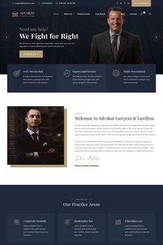The post Best Lawyer & Lawfirm WordPress Theme appeared first on RSTheme. Web Layout, Website Design Layout, Website Design Inspiration, Corporate Website Design, Corporate Design, Business Design, Lawyer Website, Law Firm Website, Design Thinking