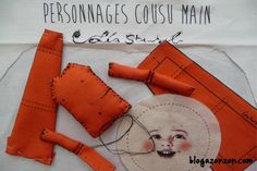 personnages cousus main