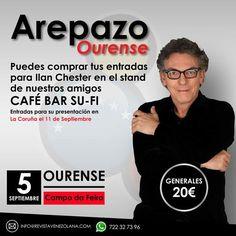 Acércate al Arepazo Ourense y adquire tus entrada para  Canciones Amor y Humor en La Coruña.  Gira 2015 de @Ilan_Chester por Europa que no puedes perderte.  #Música #Humor #Amor #Venezuela #IgersEspaña #IgersVenezuela #Music
