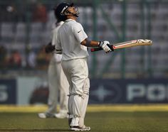 Sachin Tendulkar reached his fifty on the fourth morning, India v West Indies, 1st Test, New Delhi, 4th day, November 9, 2011 200th.in