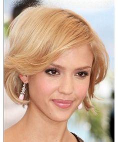 Stylish Elegante Jessica Alba Short Haircut Wig 2014