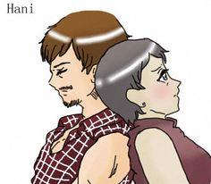 Daryl & Carol artwork by Hani [ The Walking Dead ]